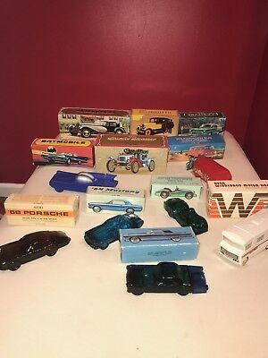 Lot Of 11 AVON Vintage Cars DECANTER Wild Country After Shave W/ Original Boxes