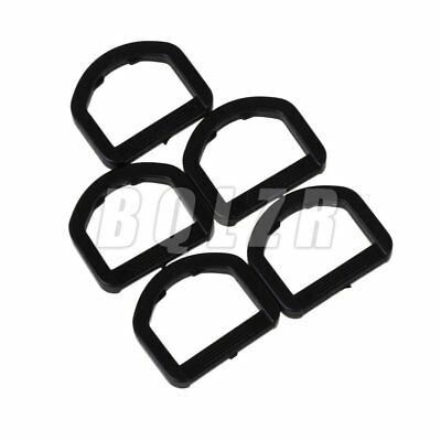 20x Black 2cm Square D-Ring Plastic Backpack Bag Buckle for Backpack Bag
