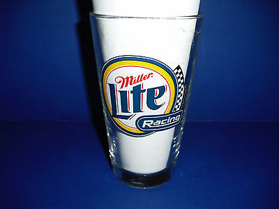 """Collectible """"Miller Lite"""" racing pint size glass"""
