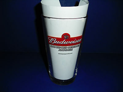 """Collectible """"Budweiser"""" """"Go Big Red"""" football pint size glass"""