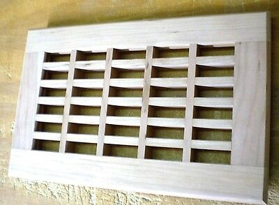 """Cherry Wood Cold Air Return Register Vent Cover For a 8"""" W x 20"""" L Duct Opening"""