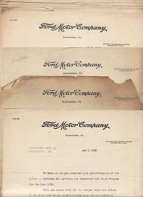1933 Ford V-8 Dealer letters Alexandria VA with parts listings Model A