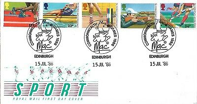 Gb 1986 Commonwealth Games Fdc Unaddressed With Special H/s