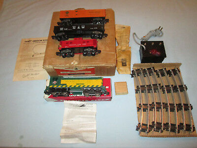 """American Flyer Set #5605T """"The Flying Freighter"""". Complete Set w/#355 Baldwin"""