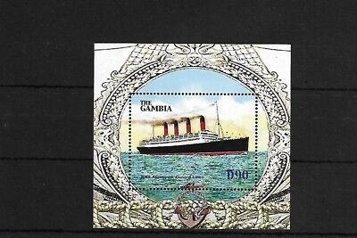 Gambia Ms4786, 2004 Ocean Liners Mini Sheet Mnh