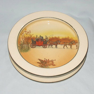 exceptionally scarce Royal Doulton Coaching Days baby plate or porringer