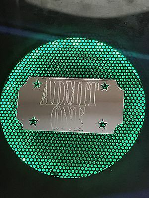 Fun House FH -Set of Mirrored Plexi.ADMIT ONE TICKET -Pinball Speaker Accessory