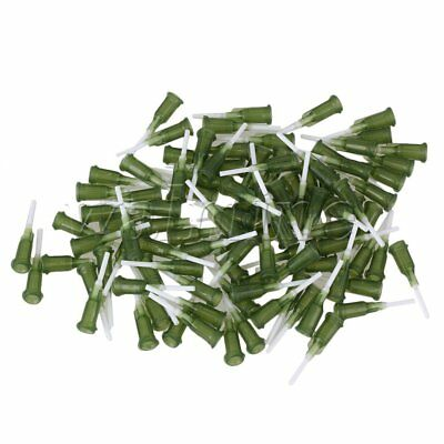 "100 x Spiral Connector Dispenser  1/2"""" 14Ga PP Blunt Needle Olive Green"