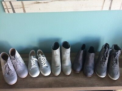 womens shoe lot size 9.5-10 boots And sneakers.  Gray .