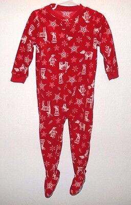 Christmas Pajamas 24 Months Unisex Baby Toddler Footed Long Sleeve Red Carter's