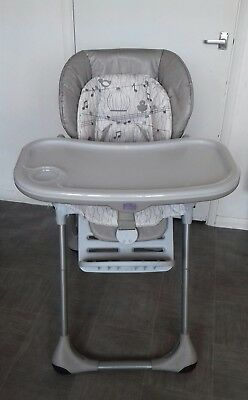 Chicco 'Polly' High chair, grey & white, good cond. Collection from KT12 BARGAIN