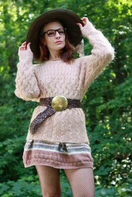 Mohair Sweater & Knit Skirt