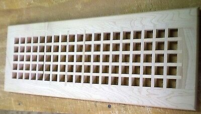 """Maple Wood Cold Air Return Register Vent Cover for a 6"""" W x 20"""" L Duct Opening"""