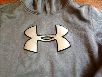 Under Armour Gray Boys Loose Fit X Storm Hooded Sweatshirt Size Youth Large