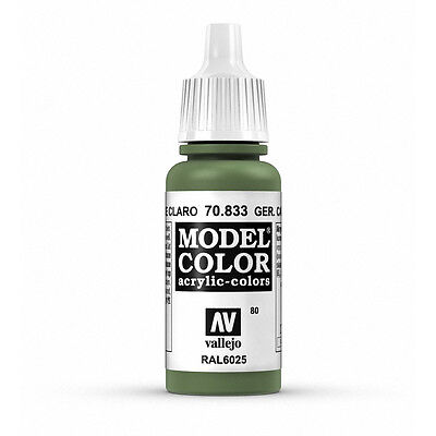 Vallejo Model Color Ger Cam Bright Green  VAL70833 Acrylic Paint 17ml Bottle 080