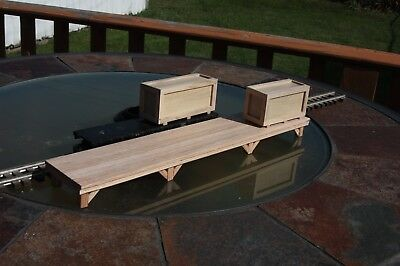 "S gauge handmade freight platform 16 1/4"" for American Flyer and others"