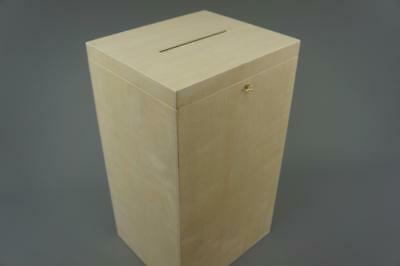 (P29/50) Lockable Plain Wood Wooden Box For Wedding Cards Post Box Wishing Well