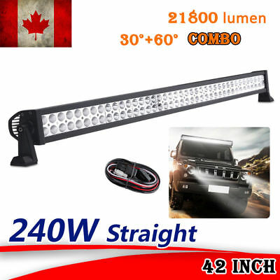 "42"" inch 240W curved led work light bar truck SUV ATV spot flood offroad 4x4 12V"