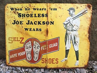 Vintage Selz Shoes Country Store Sign General Store Gas Station