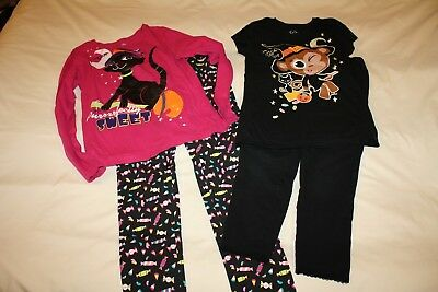 Halloween Tops and Leggings (incl. Justice and Gap) 4 pc lot, Girls size 10 12