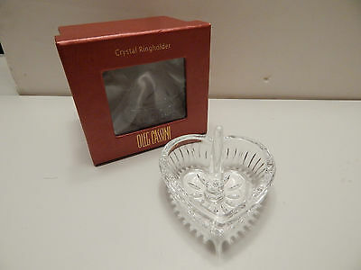 Oleg Cassini Crystal Ringholder - Heart Display Gift Ring Holder - Wedding