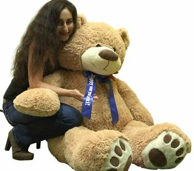 Custom Personalized Big Plush Giant Teddy Bear 5 Feet Tall - Your Name or Messag
