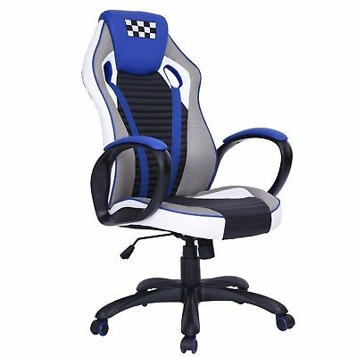 High Back Racing Gaming Chair Race Car Seat Office Desk Adjustable Reclining New