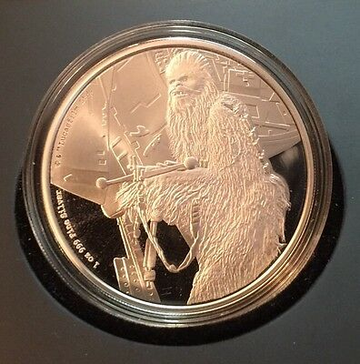 2017 NIUE STAR WARS CHEWBACCA 1oz. Silver Coin MINT RARE LOW MINTAGE NEW $