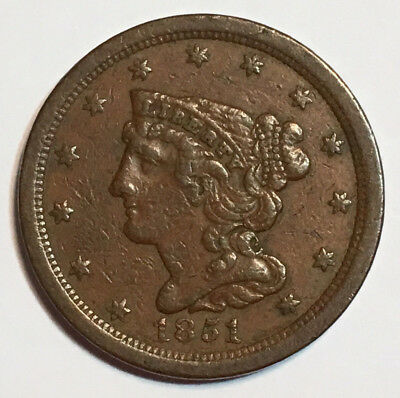 1851 1/2C Braided Hair Half Cent