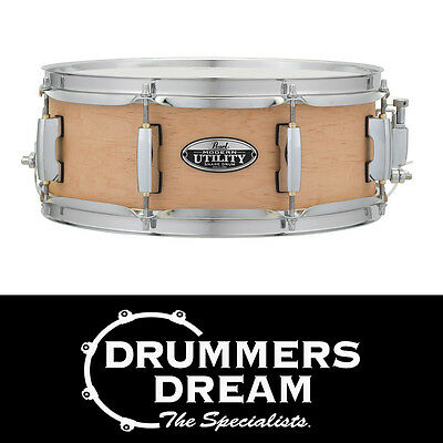 """Pearl Modern Utility 13x5"""" Snare Drum 6-ply Maple Shell Matte Natural Finish"""