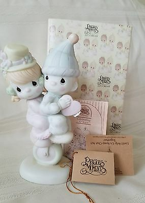 "Precious Moments Figurine ""Lord Help Keep Our Act Together"" 1986 # 101850"
