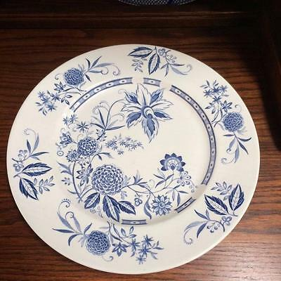 Vintage English  Alfred Clough Cathay Pattern Blue & White Plate