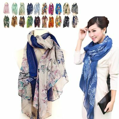 Fashion Women's Long Soft Wrap Lady Shawl Silk Leopard Chiffon Scarf