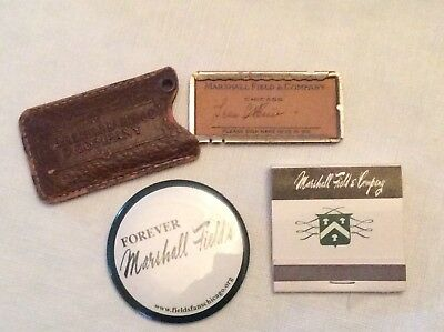 Vintage Marshall Field & Co Early Credit / Charge Card & 2 Other Misc Items