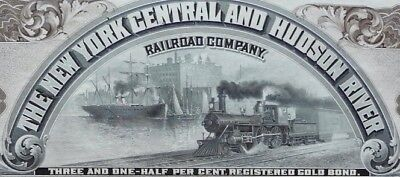 The New York Central and Hudson River Railroad Co, Gold Bond 3 1/2 % $1,000 1961