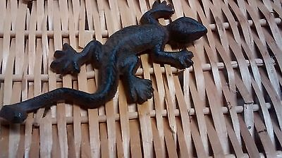 3 cast iron Nautical Lizard Antique Style Coat Hook Hat Rack Towel Rack