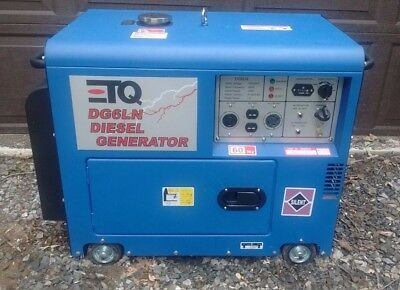Portable Diesel Silent Generator 120V/240V 5500W continuous, 12 hours run time
