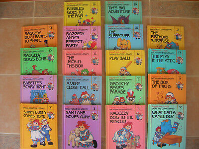 18 books RAGGEDY ANN & ANDY'S GROW-AND-LEARN LIBRARY vintage 1988 matte HC