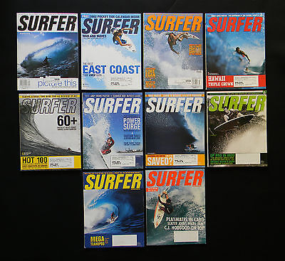 Surfer Magazine 2001 Used Lot Of 10 Issues Vol.42  Surf Surfing Hawaii