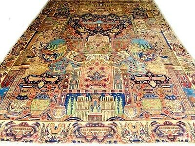 Cr.1920 PERSIAN KASHMAR Hand Knotted IRAN WOOL Rug! ~10'x12.5' ** $8K APPRAISAL!