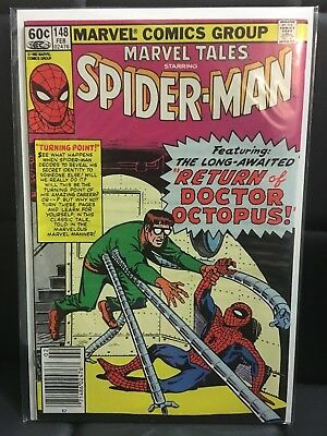 Marvel Tales #148 (Feb 1983, Marvel) Marvel Comic Book Spider-Man Doctor Octopus