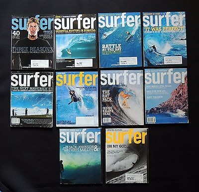 Surfer Magazine 2005 Used Lot Of 10 Issues Vol.46  Surf Surfing Hawaii