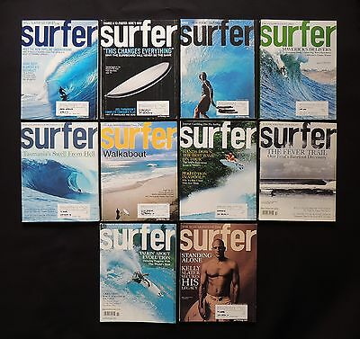 Surfer Magazine 2006 Used Lot Of 10 Issues Vol.47  Surf Surfing Hawaii