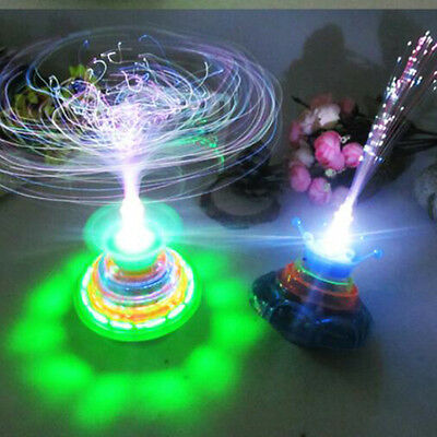 Fun Spinning Top Gyro Spinner LED Music Flash Light Kids Children Toy Xmas Gifts