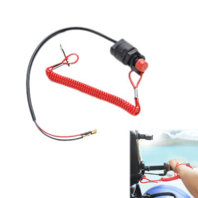 Universal Boat Outboard Engine Motor Kill Stop Switch & Safety Tether Lanyard