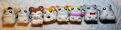 Hamtaro Hamster Toy Anime Pencil Topper Finger Puppet Figure Figurines Set of 8
