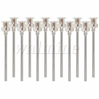 12 x Stainless Dispenser Dispensing Blunt Needle Tips 1.5""""