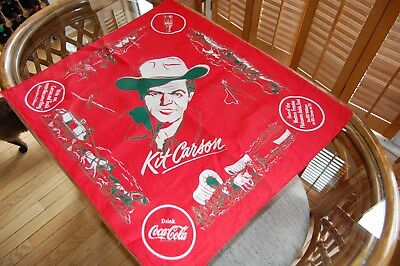1953 Coca Cola (Coke) Kit Carson (Bill Williams) Promotional Bandana or Scarf
