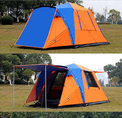 Outdoor Travel Automatic Tent Double Layer 3-4 Person Camping Instant Tent