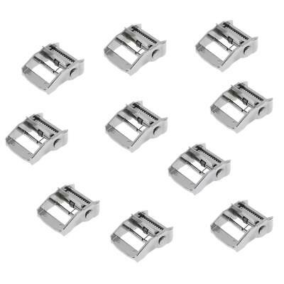 10 x 38mm Metal Cam Flap Buckle for Tie Down Luggage Cargo Load Lash Straps